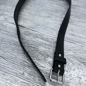 Black with silver tone hardware belt Size 46